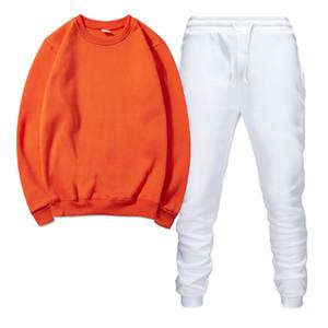 고품질 남성 운동복 스포츠 남성의 조깅 정장 후드 스웨터 봄 가을 캐주얼 스포츠 의류 아웃 설정