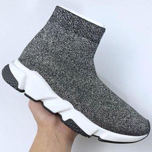 Entraîneur haute vitesse Hommes Femmes Sock Chaussures Oreo gris Eye royal Hommes Femmes Top qualité Mode de luxe de sneakers Casua L03