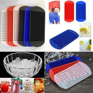 160 cuadrículas bricolaje pequeña caja de hielo del molde del cubo de hielo bandeja del cubo de silicona caliente de frutas Cubo café Bar Ice Cream Herramientas DHA179