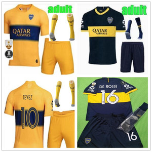 kit de hombre 2019 2020 Jersey de fútbol de Boca Juniors Local Visitante 19 20 Boca Juniors PEREZ DE ROSSI TEVEZ PAVON JRS camiseta de fútbol deportiva Juego completo de e