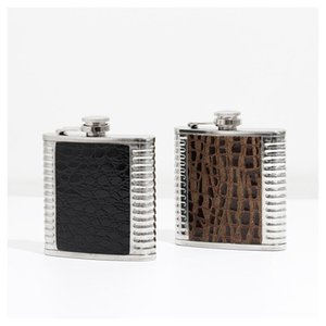 Stainless Steel Hip Flask 6oz 7oz 8oz Portable Outdoor Flagon Whisky Stoup Wine Pot Liquor Alcohol Bottles Camp Outdoor Drinkware GGA3245