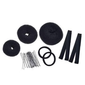 17pcs Creative Hair Clip Elastic Hair Band Style Tool Ball Braiding Tool Accessories (Random Color)