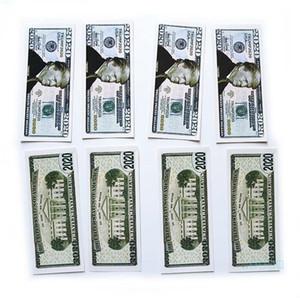 EE.UU. Presidente Donald Trump billete de dólar de la hoja de plata de billetes de papel Juguetes Trump 2020 Falso conmemorativa de moneda Tienda de regalos Accesseries E22807