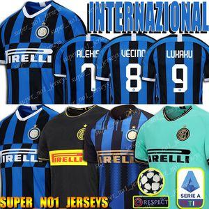 Camisas Internacional De entre futebolMilan Kit de fútbol Jersey Lukaku ERIKSEN LAUTARO Jersey SKRINIAR fútbol 2019 2020 Traje de fútbol