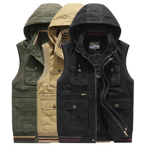 Winter Clothes Thickness Vest Men's Wear Increase Down Keep Warm Easy Even Hat Will Code Vest Male Vest Waistcoat 98