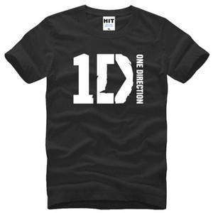 T Shirt manica O uomini del cotone One Direction 1D Musica rock magliette degli uomini di nuova estate collo corto di Tee Camisetas Hombre Fans Abbigliamento