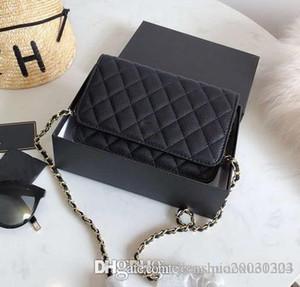 La nuova MINI catena d'agnello Ling Lattice inclinato spalla della donna delle donne borse borsa vintage Genuine Leather Designer Handbag Purses Tote