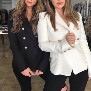 2020 Hot Blazer Women Spring Autumn Slim Blazers Formal Work Office Women Casual Solid Single Button Female Blazer Korean Style