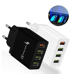 QC3.0 4USB Fast American Standard European Standard British Travel Charger high charging efficiency protection charging