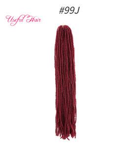 Dreadlocks bricolage Crochet Extensions cheveux Locks synthétique cheveux Weave Ombre Blonde 18inch Tressage Cheveux Soeur Micro Locs DHgate pour Bundles
