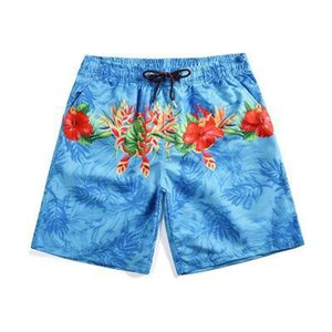 Mr.1991INC 2019 Summer Beach shorts Tropical leaves print boardshorts homme quick drying bermudas masculinas de marca