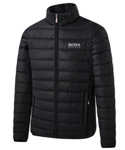 2020 Sıcak Satış Mens İlkbahar Sonbahar ceket Aşağı İnce Slim Fit Coats Pamuk dolgulu Katı Renk Uzun kollu Ceket Dış Giyim