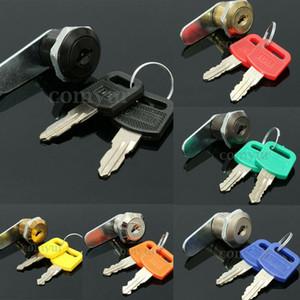 Cam segura 16mm cerraduras con llaves 2 Archivo Tabla Caja de Herramientas cajón del escritorio Locker Conjunto