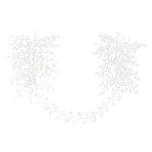 Handmade Silver Rhinestone Pearls Wedding Hair Jewelry Headband Bridal Headpiece Hair Accessories