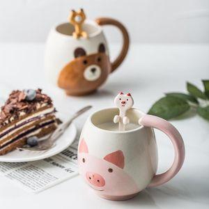 Taza de cerámica del agua de la historieta creativa de Comercio Exterior marca de exportación tazas Panda rana C comestibles Zakka 10 5TY A1