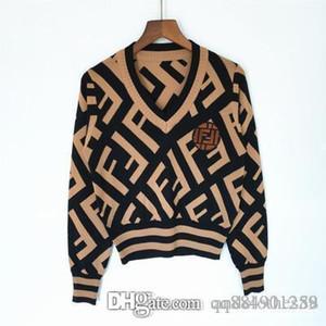 2020 Designer Luxus Frauen Pullover Frauen Knitwear Bump Farbe Pailletten T Langarm Strickpullover Frauen Pullover Strickjacke Frauen