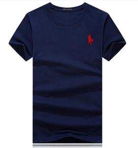 19ss Gömlek Kısa Kollu Lüks t shirt Baskılı Pamuk tişört Erkek Giyim Sıcak Saleslauren Polo Ralph Pamuk Yeni Erkek Yaz Tees Artı 5XL