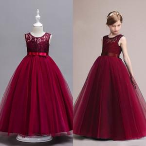 Auf Lager Princess Marineblau Günstige Blumenmädchenkleider A-Linie ärmel Kind-Kleinkind Erstkommunion Kleid mit Schärpe MC0889