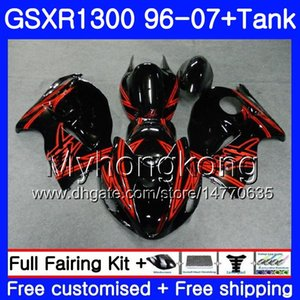 + Бак для SUZUKI GSXR1300 GSXR1300 96 97 98 99 00 01 333HM.87 Hayabusa GSX-R 1996 1997 1300 1998 1999 2000 2001 2007 Красный Черный обтекатели