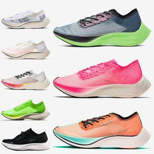 Nike Air ZoomX Vaporfly Next% femmes hommes chaussures de course respirant valériane bleu rose Ekiden bleu ruban Be True coureurs baskets 36-45