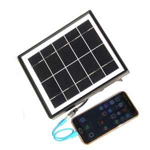 BUHESHUI 5 W 5 V Carregador Painel Solar Policristalino Painel Solar Power System Carregador de Bateria Para 3.7 V Luz + Cabo 3 M Livre grátis