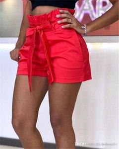 Пояса для Pocket Summer Wide Legged Брюки женские Любимые середины талии шорты Брюки женские Relaexed Cacual Короткие штаны