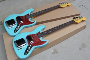 일렉트릭 기타 저음 밝은 파랑 색 4 현 재즈베이스 재즈베이스