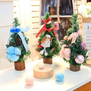 Рождественские елки Праздничный вечеринок Arbol де Navidad Albero Натале kerstboom 25см мини Рождественская елка Рождество дерево 3 шт / комплект
