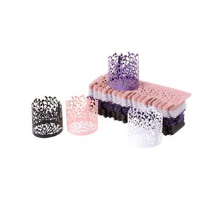 50pcs  lot Decorative Paper Packaging Hollow Lace Lantern Candlestick Wedding Party Christmas Table Decoration