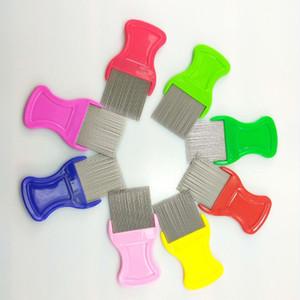 Pet Flohkamm Stahl Grooming Kämme für Hund Katze Kätzchen Haarschneider Pinsel Hundepflege Werkzeuge Pet Produkte Mischfarben DHL