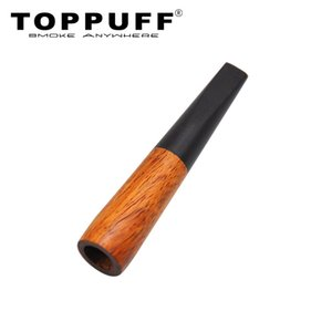 TOPPUFF Premium Ebony Wood Smoking Pipe Creative Filter Wooden Pipe Tobacco Cigarette Holder Standard Size Cigarettes Pocket Size