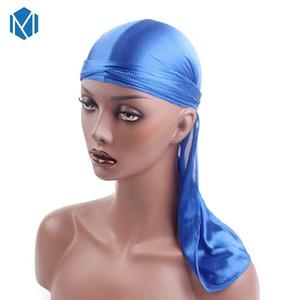 Cool Fashion Uomo Satin Durags Bandana Turbante Parrucche Uomo Silk Durag Headwear Fascia Pirata Hat Accessori per capelli