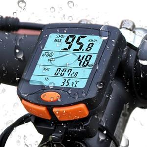 Velocímetro electrónicos Cuatro capacitadores exhibición de pantalla con accesorios luminoso camino de la bicicleta de bicicleta de montaña