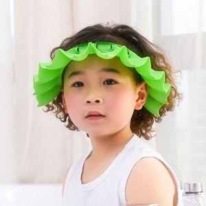 Детские силиконовые шампунь для душа для душа для купания малыша детей регулируемая душевая шапка для душа дети, дети защиты козырек