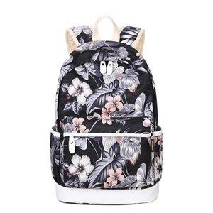 Kız Sırt Çantası Casual için Tasarımcı-Kazanan Marka Benzersiz Baskı Sırt Çantası Kadın Çiçek okul çantalarını Tuval Sırt Çantası Schoolbag