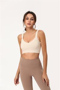 Novo! Bela Back Design de Lu Yoga Sports Underwear das Mulheres no Verão fresco respirável cor pura roupa interior dos esportes