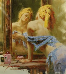 "Pino ""Morning Reflections"" Home Decor Handcrafts Oil Painting On Canvas Wall Art Canvas Pictures 200606"
