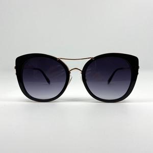 068 occhiali da sole per le donne progettista popolare senza telaio figura del fiore di occhiali da sole di cristallo Metarial stile delle donne di moda Vieni con il caso di colore rosa