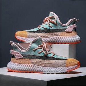 Mens Casual scarpe sportive 3D gelatina di marea scarpe Hit colori Coconut 2020 New Flying tessuto uomini Mesh Mocassini Tessuto Lace-up