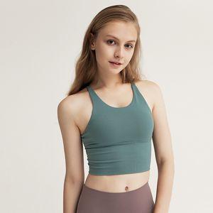 Frauen Thin Schultergurt Kreuz zurück Yoga Bras High Impact Padded Sport-BH Push-Up-Jogging Fitness Sport Bra Top Sport Hot-Qualität