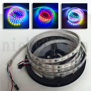 12 V WS2811 5050 RGB LED Piksel Esnek Şerit Işık Bandı 5 M 300 LEDS Adreslenebilir Rüya Sihirli Renk Değişimi IP67 Tüp Su Geçirmez 60LEDS / M