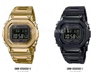 Yeni klasik lüks gr şok erkekler su geçirmez moda spor relojG-ŞOK ışık kinetik kuvars mens watch izle GMW-B5000GDb622 # mens
