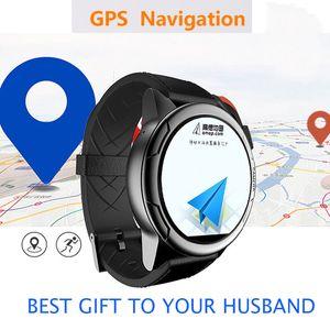 المنتج الجديد IP67 gps الملاحة السيارة 2g 3g 4g sim card Smart Watch دعم google map Camera GPS Heart Rate smartwatch
