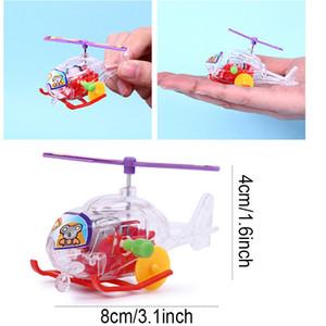 Mini Şeffaf Uçak Oyuncaklar Uçak Clockwork Oyuncaklar Çocuk Eğitim Rüzgar-Up Oyuncaklar Uçak Plastik Çocuk Doğum Günü Hediyeleri Oyuncak BH2078 ZX