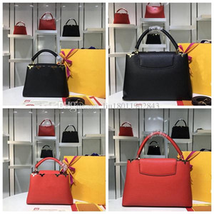 Novo saco de contador de alta qualidade, M48870 saco de viagem de luxo, bolsa de lazer cruz, alça de ombro de couro destacável, Dois tamanhos, 27cm, 36cm