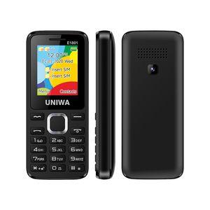UNIWA E1801 1.77 인치 TFT 스크린 듀얼 SIM은 baratos 2g 피처 폰 최저 요금 키패드 휴대 전화를 celulares