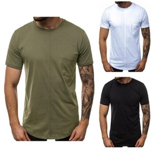 Casual Style Tees Tops Comfortable Round Neck Long Sleeve Shirt Man Autumn Fashion Designer Stitching Pocket Tshirt Men Trend