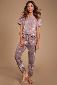 Dhl Free For Pajamas Tiedye For Female Pyjama Korte Sets Met Ronde Hals En Tie-Dye Vintage Tie Dye Electric Green nice bwkf XuQCI