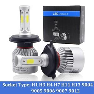 100pcs / Lot 50Pair voiture avec LED Ampoules lampe H4 H7 Canbus H11 H8 HB4 H1 H3 Auto High Low Faisceau 6000K 6500K Lumière S2