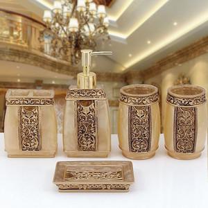 European Bathroom Set Zahnbürstenhalter Seifenschale Spender Presse Flasche Römischen Badzubehör Fünf Handwerk Kits